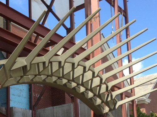 Decorative Steel Canopy Building Entrance