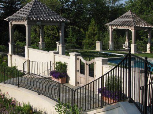 Site Rails for Residential Backyard