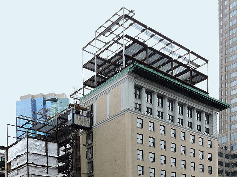 High Rise Building With Steel Work